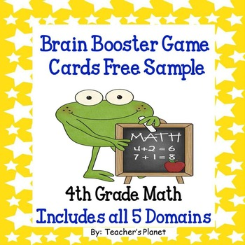 Free Th Grade Math Brain Booster GameTask Cards Sample By