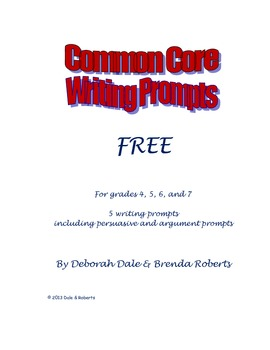 Free Common Core Writing Prompts