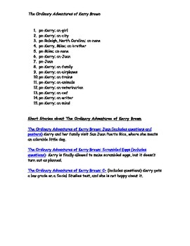 Free: Common Nouns and Proper Nouns (The Ordinary Adventures of Kerry Brown)