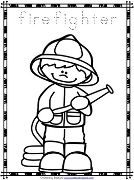 community helpers coloring pages | Free Community Helpers Tracing and Coloring Pages by The ...