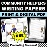 FREE Community Helpers Writing Papers with Pictures
