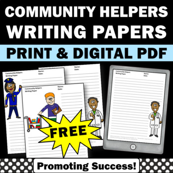 FREE Community Helpers Creative Writing Papers Labor Day L