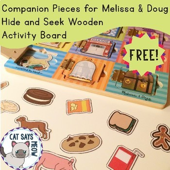 Free! Companion Pieces for Melissa & Doug Hide and Seek Wooden Activity Board