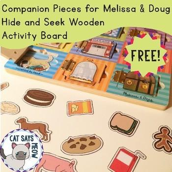 Free! Companion Pieces for Melissa & Doug Hide and Seek Wo