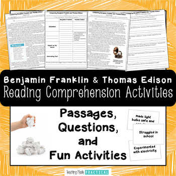 Comparing Benjamin Franklin and Thomas Edison - Reading Passages, Snowball Fight