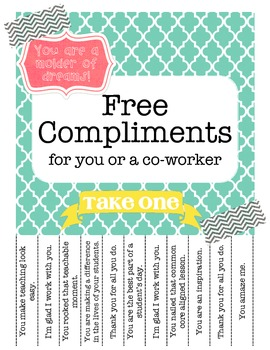 Free Compliments for Teachers