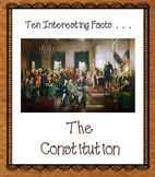 Constitution Facts and Foldable Organizers