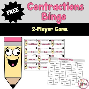 Free Contractions Bingo Game