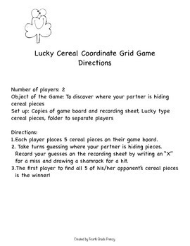 Free Coordinate Grid Game