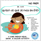 Free Core French Reading Activity: Read, Draw, and Colour