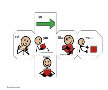 AAC Core Vocabulary Fill in the Blank Game for Speech Therapy
