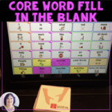 AAC Core Vocabulary Activity Fill in the Blank Game for Sp