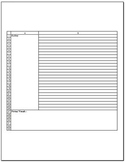 Free Cornell Notes Excel Template for Study Skills