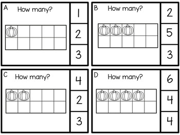 Free Counting to 20 with Ten Frames and Double Ten Frames Thanksgiving Pumpkins