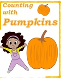 Free Counting with Pumpkin Flashcards