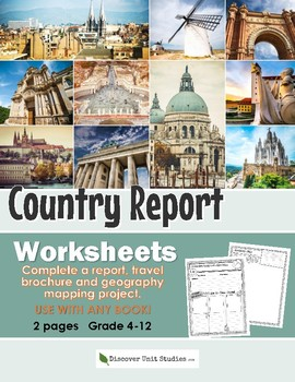 Free Country Report Worksheet Set