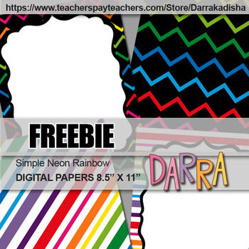 Free Cover Page Background - Digital Papers - Rainbow colors