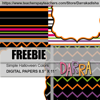 Free Cover Page Background Halloween Colors, Digital Papers