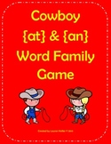 Free: Cowboy Word Family Game