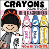 Crayons {Color Words} ~ Classroom Decor English and Spanish