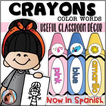 Crayons {Color Words} ~ Classroom Decor