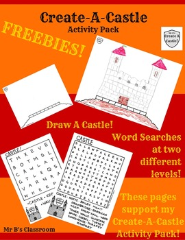 Free! Create-A-Castle Activity Pack Freebies! Word Search Draw-A-Castle