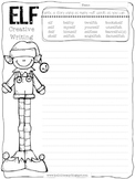Free Creative Elf Writing Using Words Containing -elf