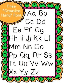 "Free ""Creative Hand"" Font"