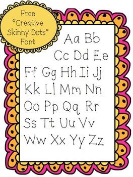 "Free ""Creative Skinny Dots"" Font"