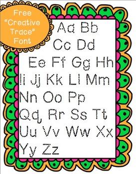 "Free ""Creative Trace"" Font"