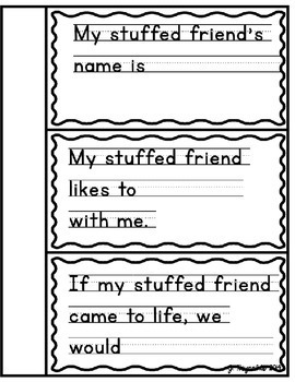 Free Creative Writing Booklet for the Primary Grades--My Special Stuffed Friend