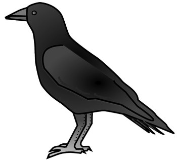 Free Crow clip art for fall themes