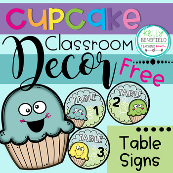 Free Cupcake Table Signs