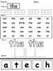 Free- Cut and Paste NO PREP- Sight Words: the, like