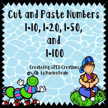 Free* Cut and Paste Numbers 1-10, 1-20, 1-50, and 1-100 | TpT