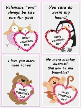 Free Cute Animal Valentine Cards