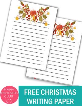 Free- Cute Christmas Writing Paper Printable- Christmas Writing Sheets