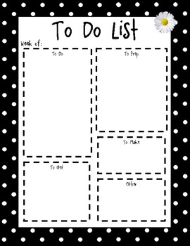 Free Cute To Do List