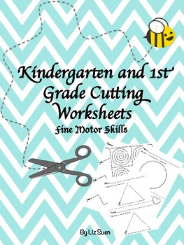Free Cutting Practise Worksheets Preview- Kindergarten to 1st Grade