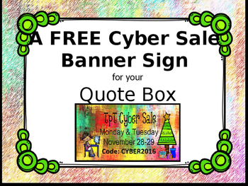 Free Cyber Sale Banner