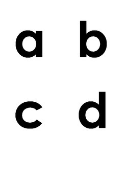 Free ~ DIY Sandpaper Letters Template - Lowercase Letters