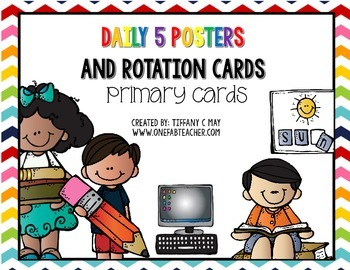 Free Daily 5 Primary Rotation Cards