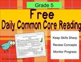 **Free Daily Common Core Reading**Grade 5