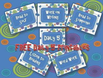Free Daily Five Printable