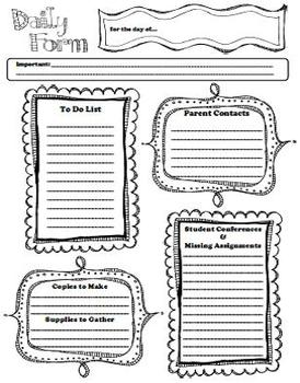 free daily form teacher to do list by jami bicknell tpt