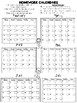 Free Daily Homework Calendars 2018-2019 {Track Homework Completion Each Day!}