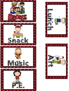 Free Daily Schedule Cards {Editable}