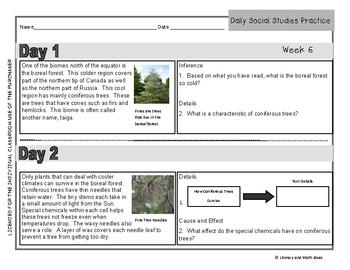 Free Daily Social Studies Practice (Grade 3)