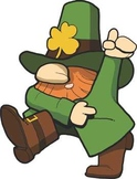 Free Dancing Leprechan Clipart