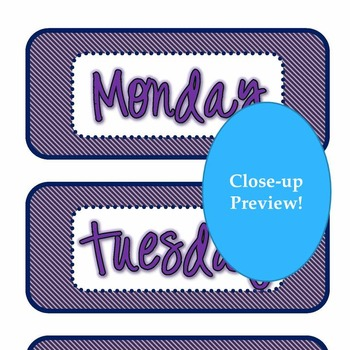 Free Days of the Week Printable